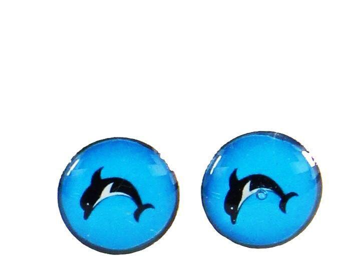 Boucles d\'oreilles clou dauphin 246340