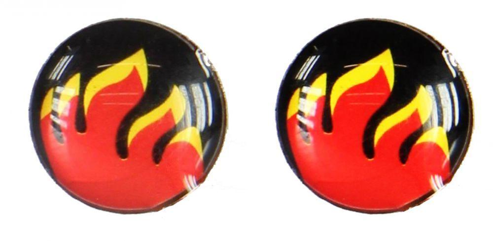 Boucles d\'oreilles clou flamme 249385