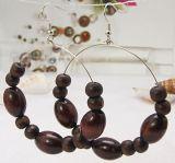 Boucles d'oreilles créoles originale en bois 246776