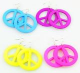 Boucles d\'oreilles en acrylique logo peace and love 246771