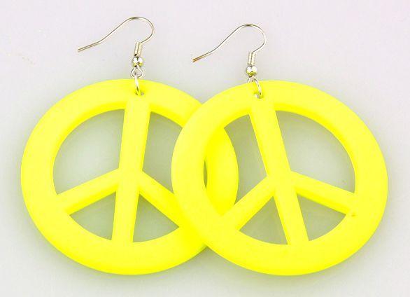 Boucles d\'oreilles en acrylique logo peace and love 256256