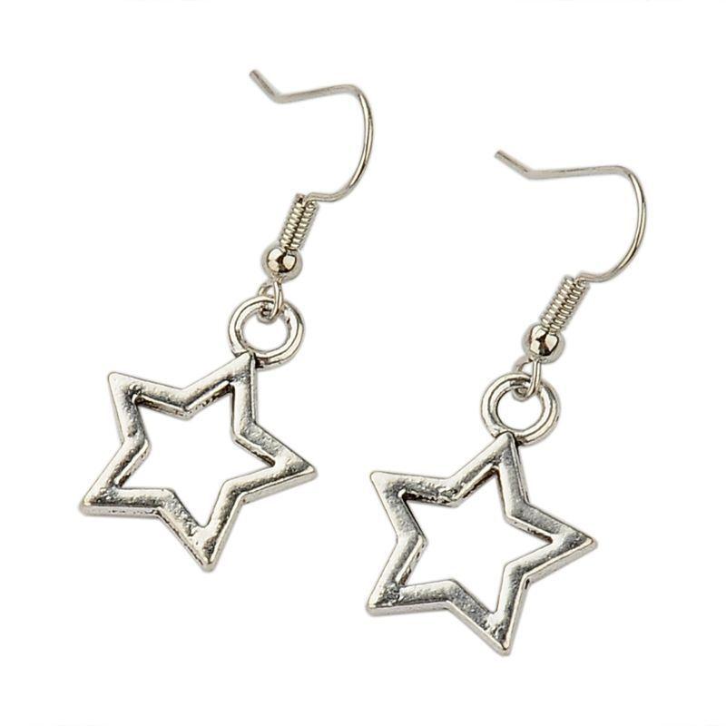 Boucles d'oreilles fantaise en acier logo stars Stella 246779