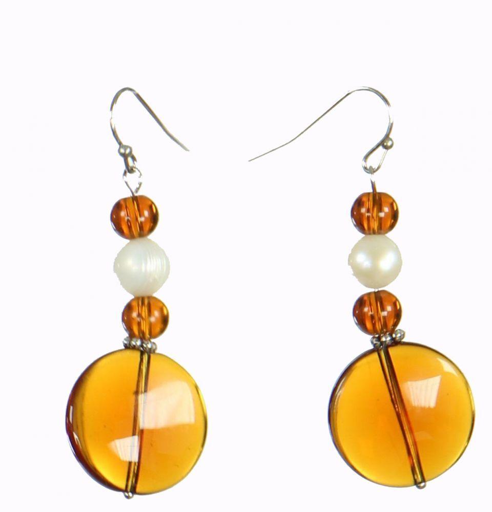 Boucles d'oreilles look ethnique couleur miel Martana n°1 249810
