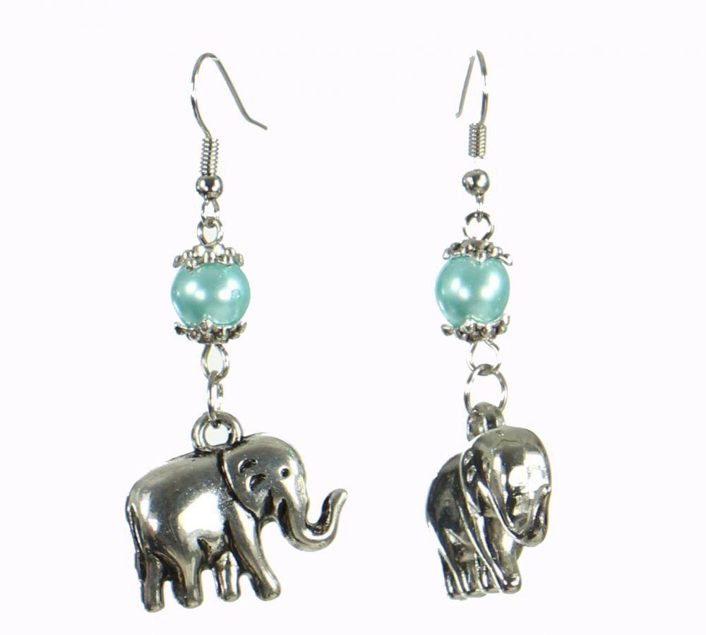 Boucles d'oreilles motifs éléphant galmiste Bleue 249817