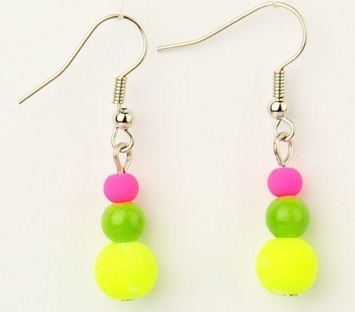 Boucles d\'oreilles multi balls fluo 246789