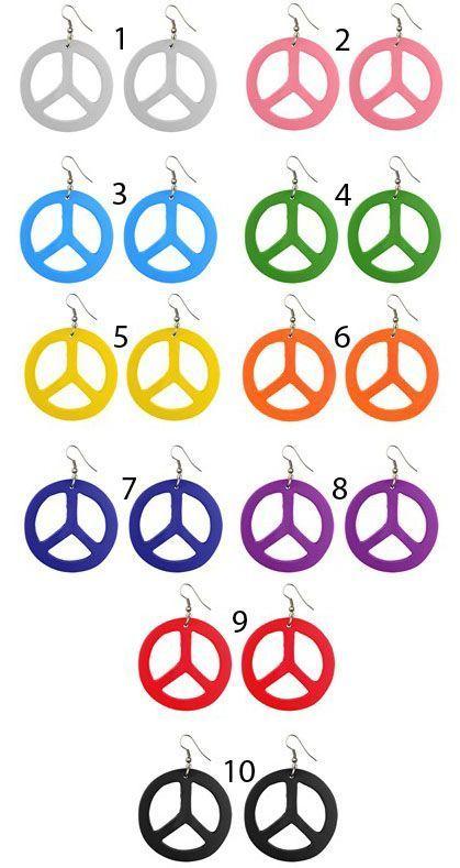 Boucles d\'oreilles originales motif peace 245589