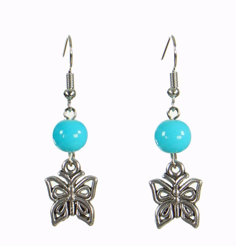 Boucles d\'oreilles originales papilly bleue 249937