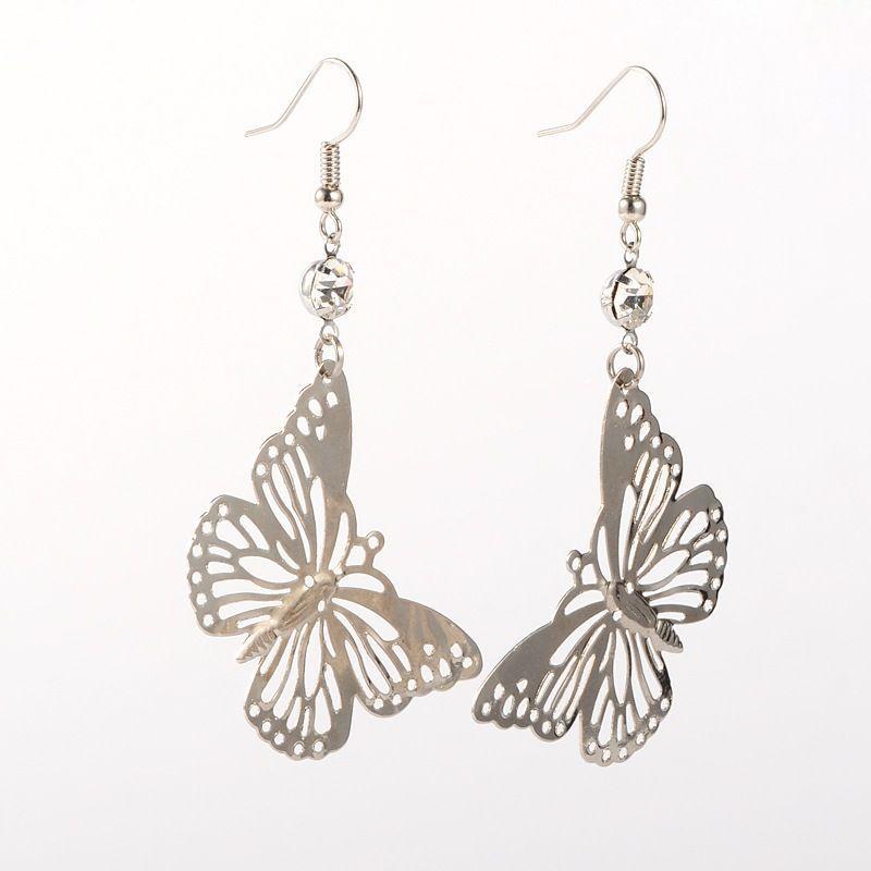 Boucles d'oreilles papillon argenté Séléna 249602