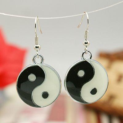 Boucles d'oreilles pendentif yin yang Simba 246674