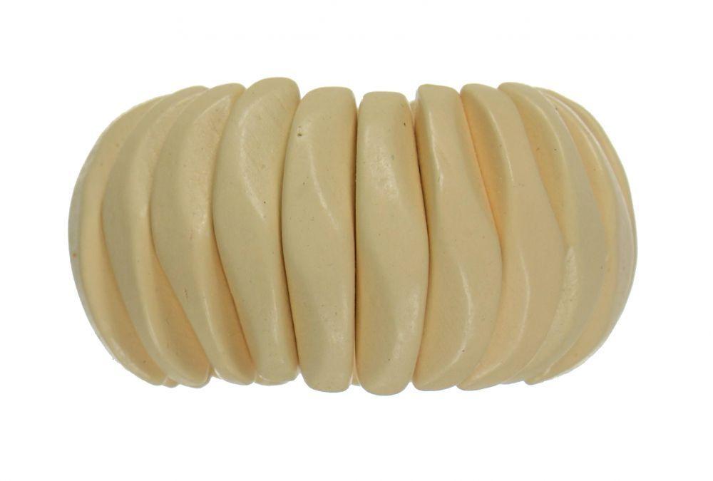 Bracelet élastique en bois  beige 247438