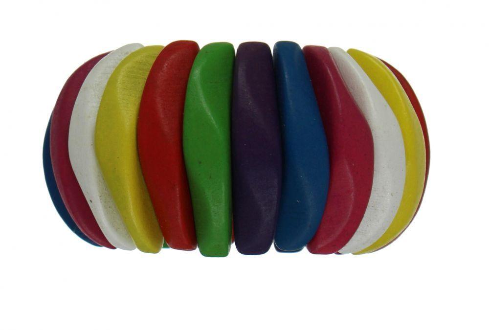 Bracelet élastique en bois  multicolor 247440