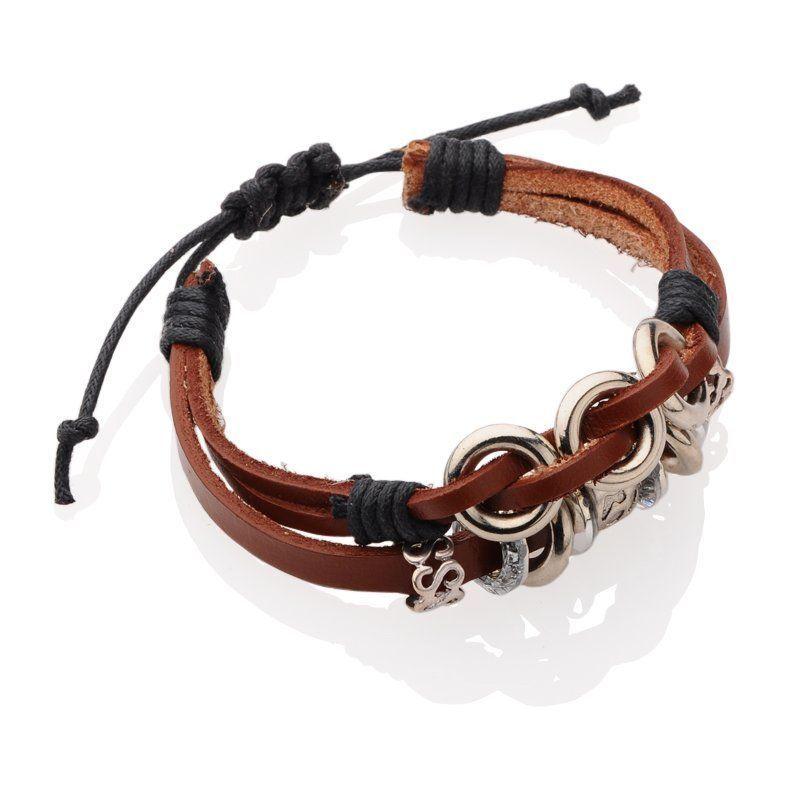 Bracelet en cuir et cordon ciré fabbrix 247166