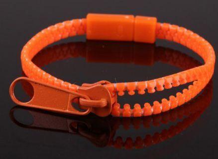 Bracelet fermeture éclair orange 244707