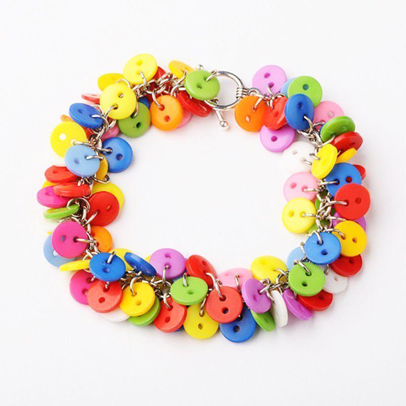 Bracelet multicolore en petits boutons original 246752