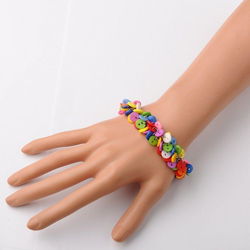 Bracelet multicolore en petits boutons original 256246