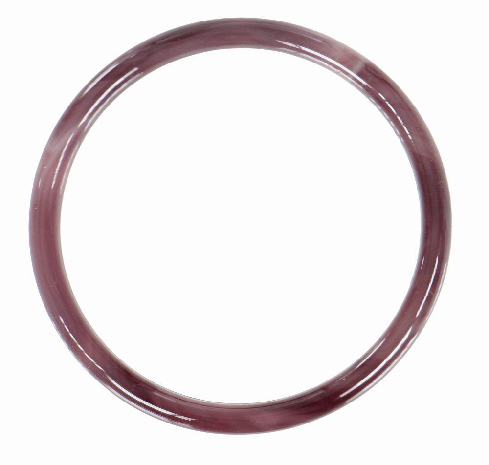 Bracelet original en verre gruy violet foncé 249322