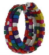 Bracelet spirale en bois roudou multicolor 247540