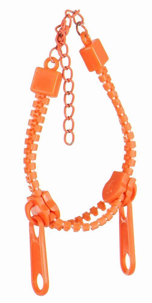 Bracelet zip orange 249261