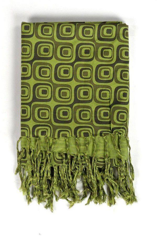 Chèche ethnique original tendance vert Poulyn 304135