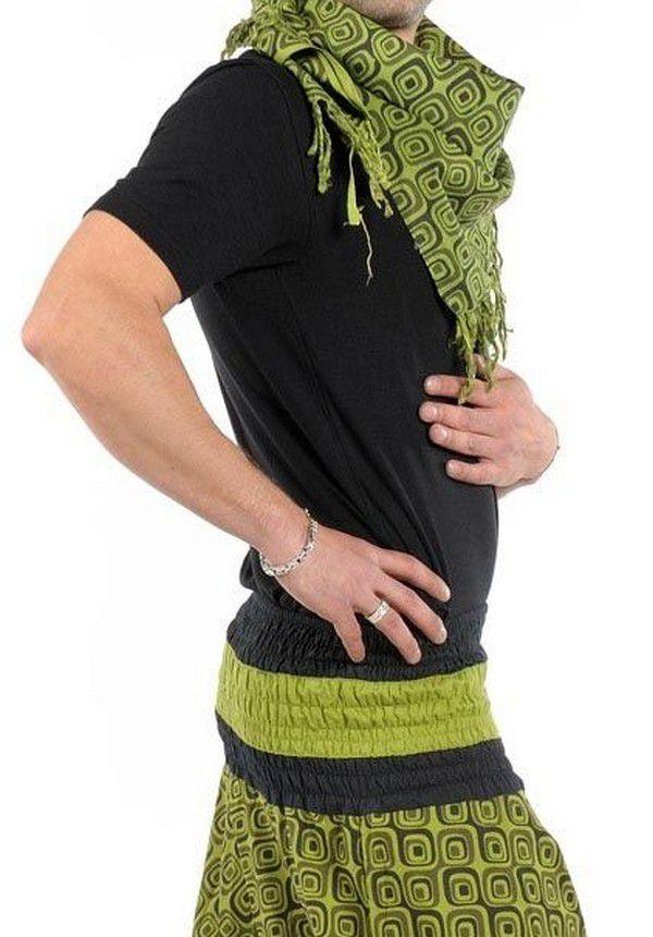 Chèche ethnique original tendance vert Poulyn 304136