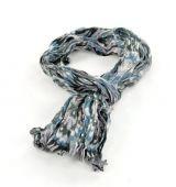 Chèche foulard imprimé bleu/gris/noir en coton 245019