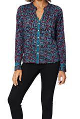 Chemise à col mao pour femme ethnique chic Léonie