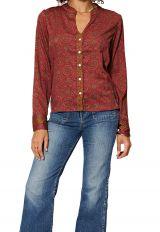 Chemise à col mao pour femme originale et chic Samantha