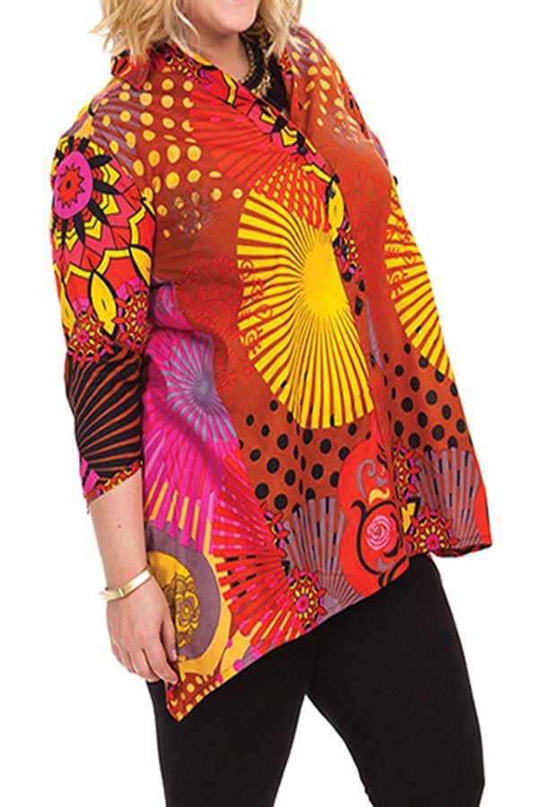 Chemise femme grande taille d'été Ehona 281675