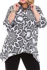 Chemise femme longue grande taille blanche Manua 282046