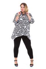 Chemise femme longue grande taille blanche Manua 282047