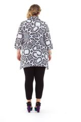 Chemise femme longue grande taille blanche Manua 282048