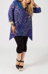 Chemise femme ronde violette Laurence 268677