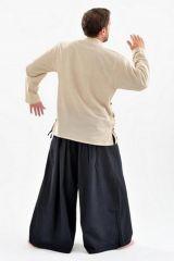 Chemise homme grante taille et pas chère chanvre Miang 303233