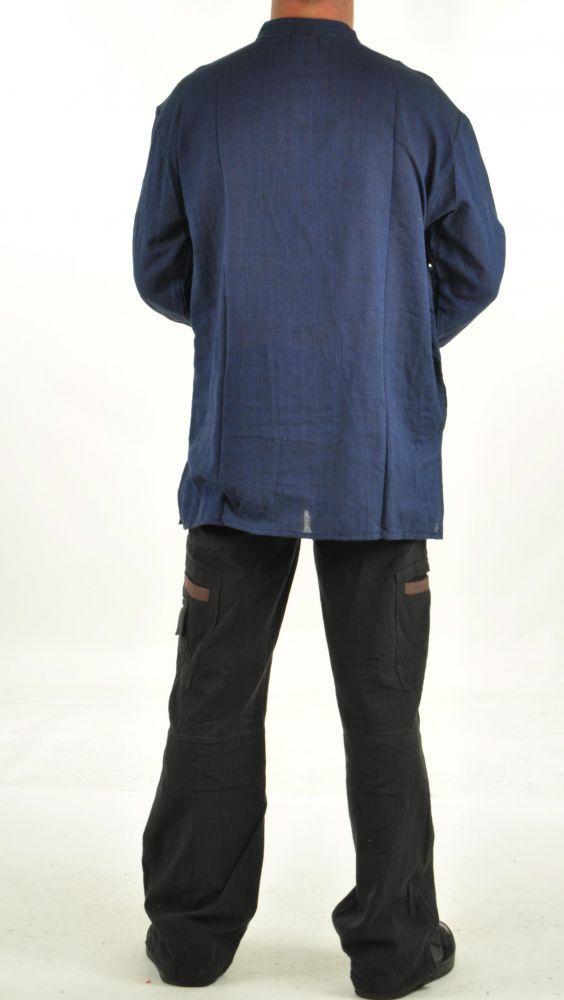 Chemise homme kims du népal bleu 254672