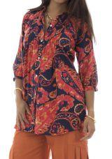 Chemise pour femme ethnique en coton Bianca 291392
