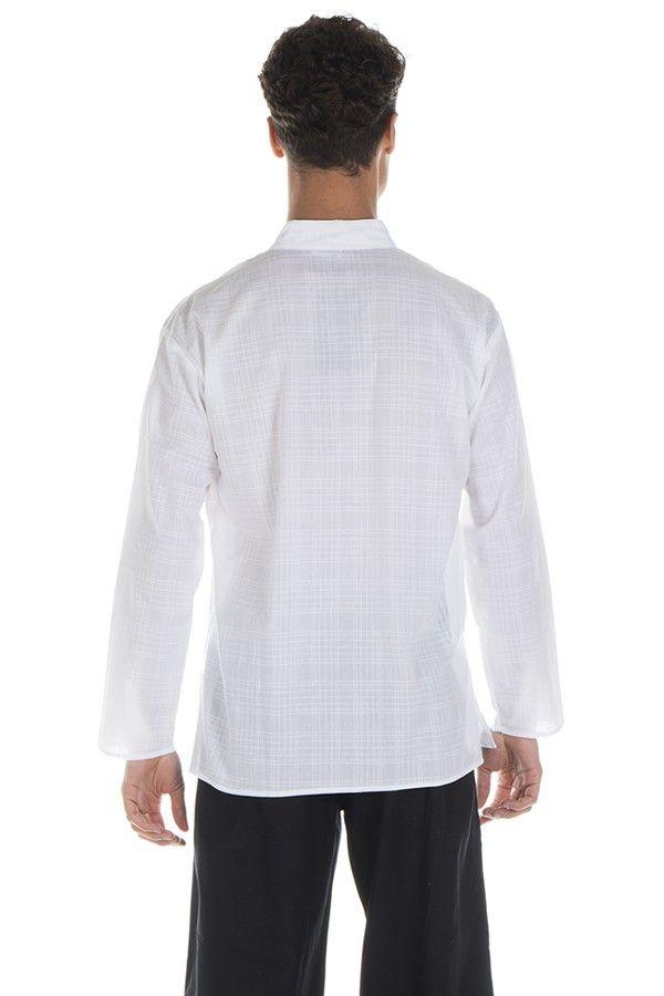 Chemise pour homme à manches longues élégante blanche Joshua 295821