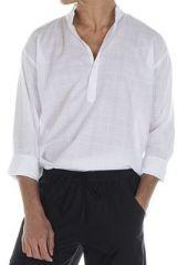 Chemise pour homme à manches longues élégante blanche Joshua 312438