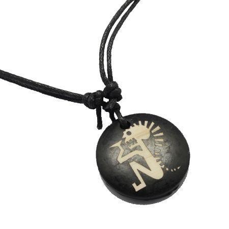 Collier avec pendentif en résine imitation os logo 29 246699