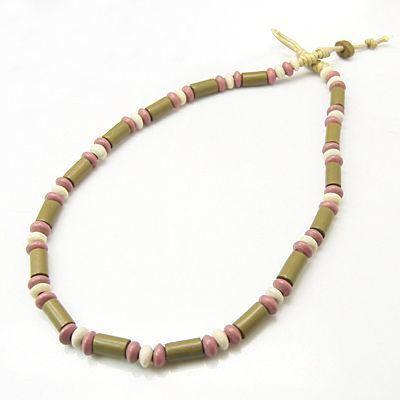Collier original avec des perles en céramique mogoy 246750