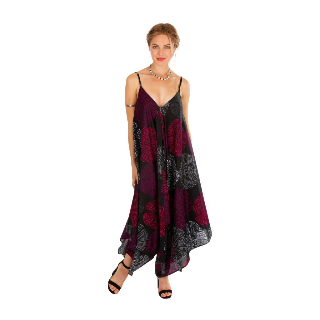 Combi-pantalon femme en voile de coton léger pour l'été Kaly 306563