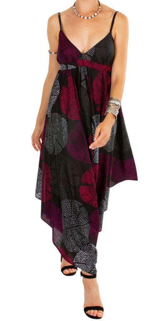 Combi-pantalon femme en voile de coton léger pour l'été Kaly 306564