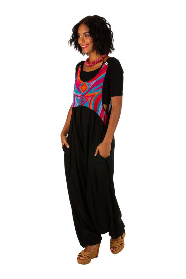 Combi-Sarhouel noir combinaison sarouel femme Rodica
