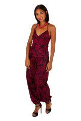 Combi-sarouel chic pour femme avec un imprimé fleuri original Cassie 306014