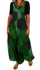combi-sarouel femme en voile de coton léger pour l'été Melyssa 306553