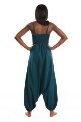 Combi-sarouel imprimé ton bleu pour femme Malinda 305593