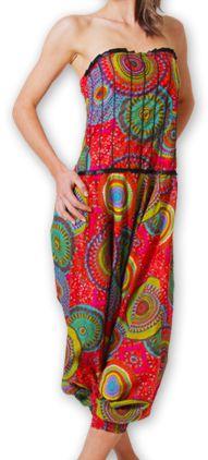 Combi-Sarouel pour femme d'été Ethnique et Coloré Any Rouge 276667