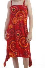 Combinaison 9en1 look vintage ultra colorée rouge Marwan 296901