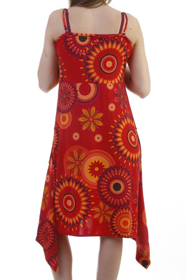 Combinaison 9en1 look vintage ultra colorée rouge Marwan 296902