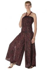 Combinaison bustier avec un pantalon large et elastique smocké au dos Southwark 288761