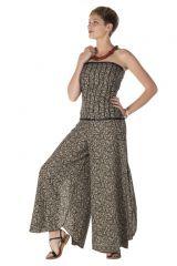 combinaison bustier légère avec un pantalon large smocké au dos Castleton 288813